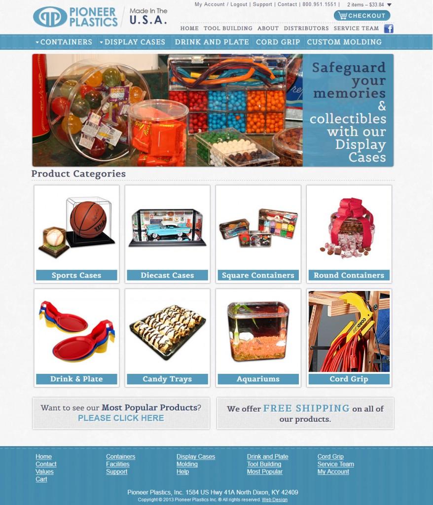 Pioneer Plastics Web Site Design